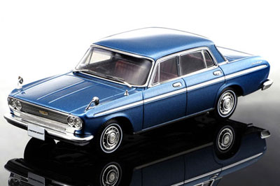 Blue Toyota toy car