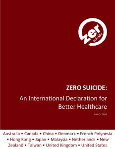 Zero Suicide Declaration